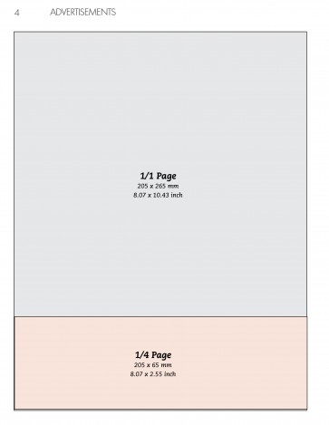 Anzeige 1/4 Seite Horizontal