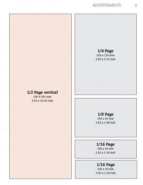 Anzeige 1/2 Seite Vertikal